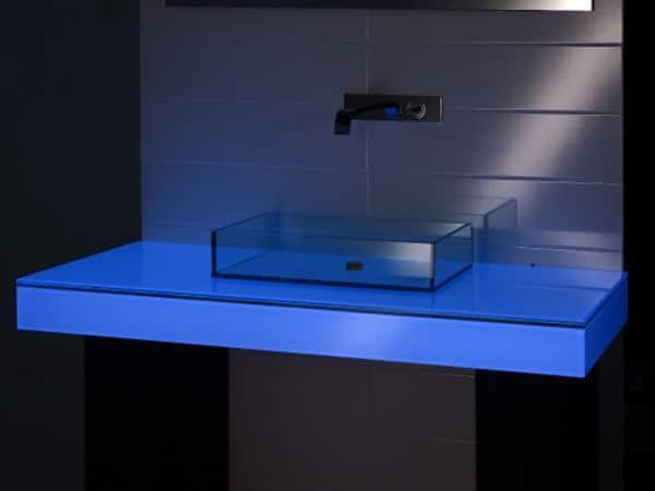 Tavoli in vetro modena sassuolo produzione arredamento for Lavabo bagno prezzi